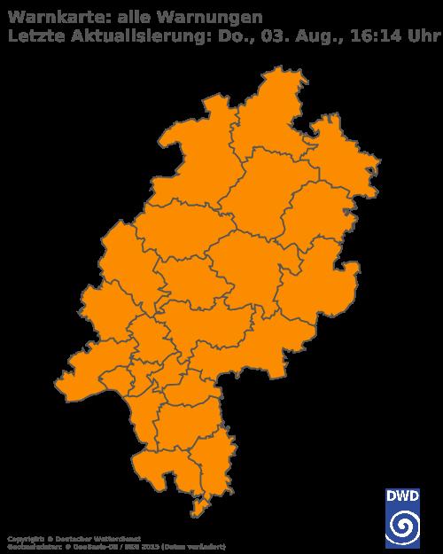 Aktuelle Wetterwarnungen für Limburg-Weilburg